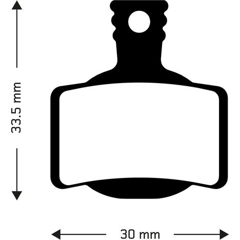 Aztec Sintered disc brake pads for Magura MT