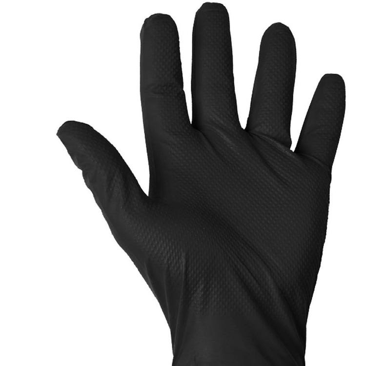 Rema Tip Top Heavy Duty Diamond Grip Black Disposable Gloves (90)