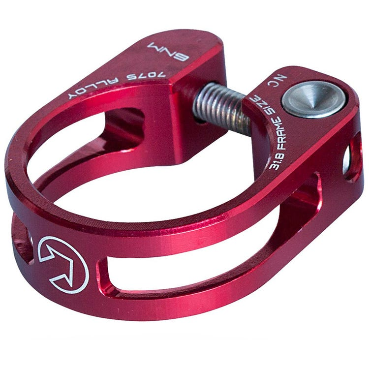 PRO Performance Seatpost Clamp, 28.6mm, Red