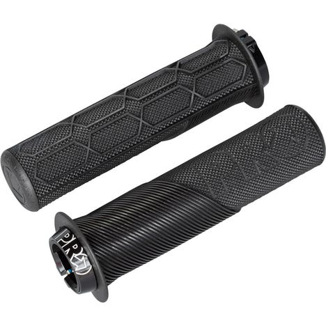 Trail Lock On Grips, with Flange, 32mm, Black