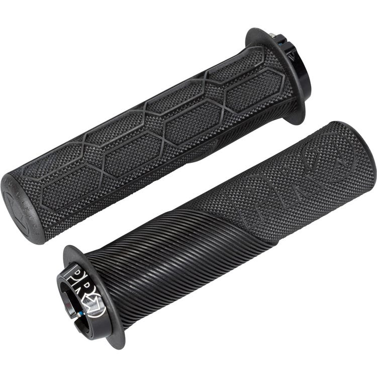 PRO Trail Lock On Grips, with Flange, 32mm, Black