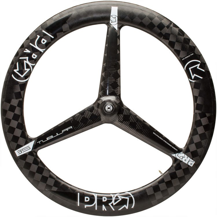 PRO Carbon Textreme 3-spoke wheel - front - tubular