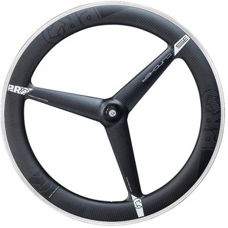 3K Carbon 3-spoke wheel - front - clincher