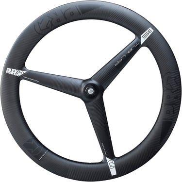 3K Carbon 3-spoke wheel - front - tubular