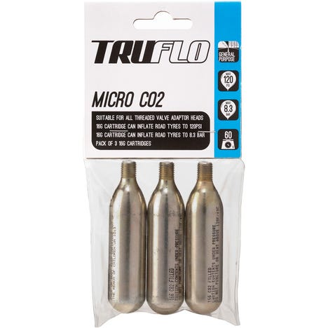 Micro CO2 pump refill pack (3 x 16 g cartridges)