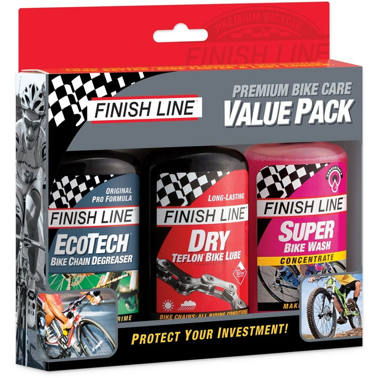 Finish Line Summer Value Pack - Multi Degreaser / Super Bike Wash / Dry Lube