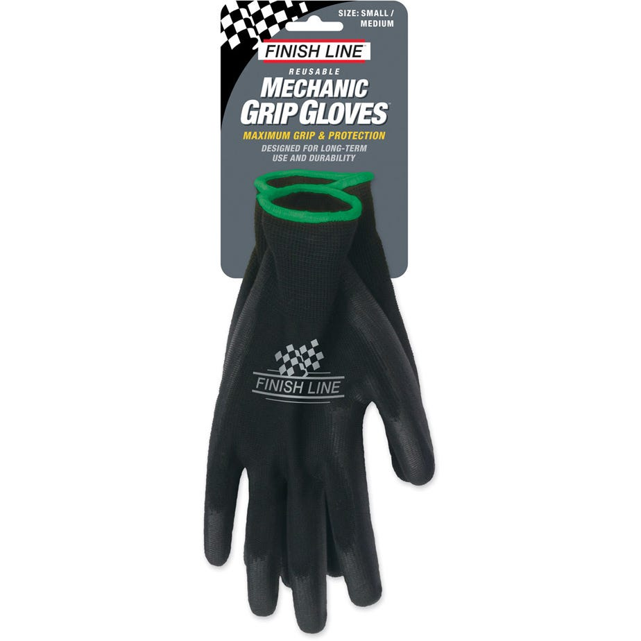 Finish Line Mechanic Grip Gloves - Small / Medium