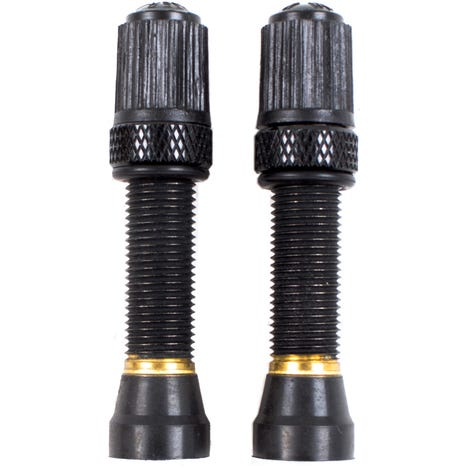 Schrader tubeless valve, threaded Bronze