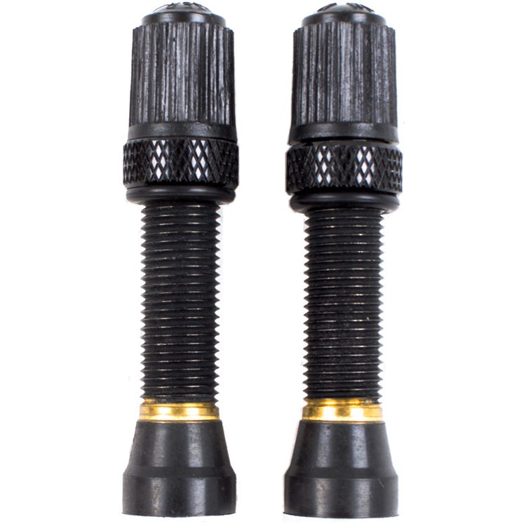 Nutrak Schrader tubeless valve, threaded Bronze