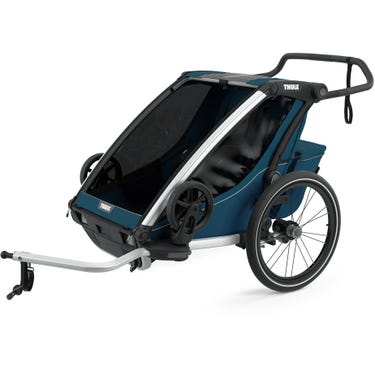 Chariot Cross 2 U.K. certified child carrier with cycling and strolling kit