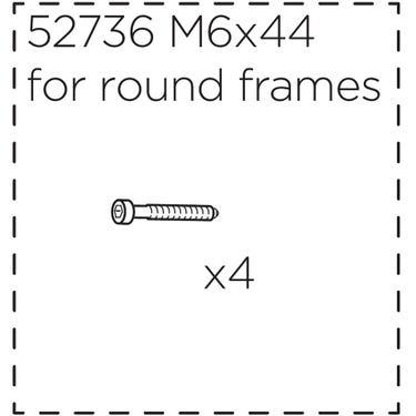 Fitting screws for Ridealong, short (44 mm)