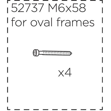 Fitting screws for Ridealong, long (58 mm)