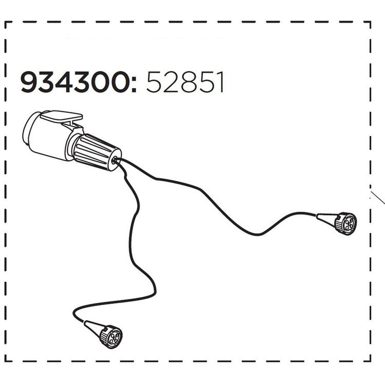 Thule 52851 Lamp cable 13 pin EF XT UK