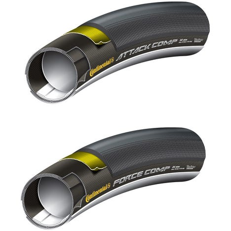 Continental Grand Prix Attack Comp and Force Tubular Tyres