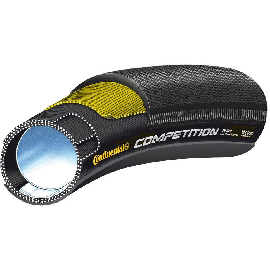 """Continental Competition Vectran 28"""" x 19mm Black Chili Tubular Tyre"""