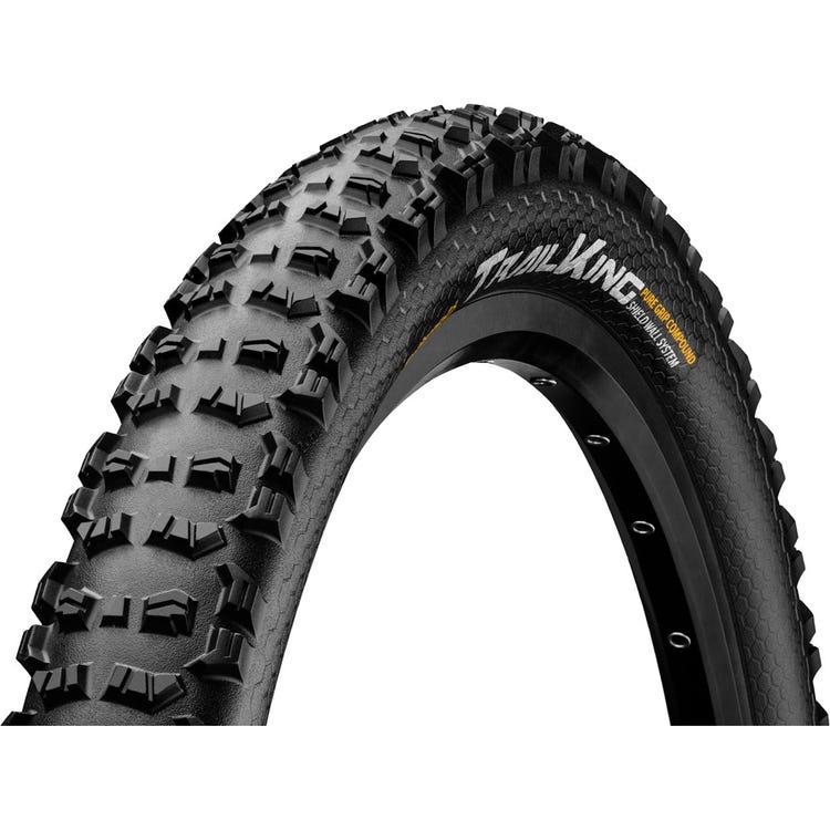 "Continental Trail King 27.5 x 2.6"" PureGrip ShieldWall Black Folding Tyre"