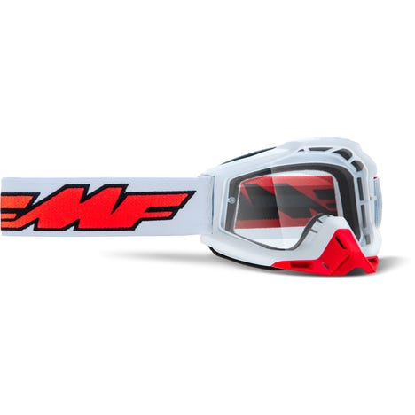 POWERBOMB Goggle Rocket White Clear Lens