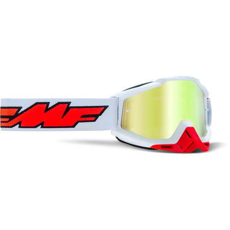 POWERBOMB Goggle Rocket White True Gold Lens