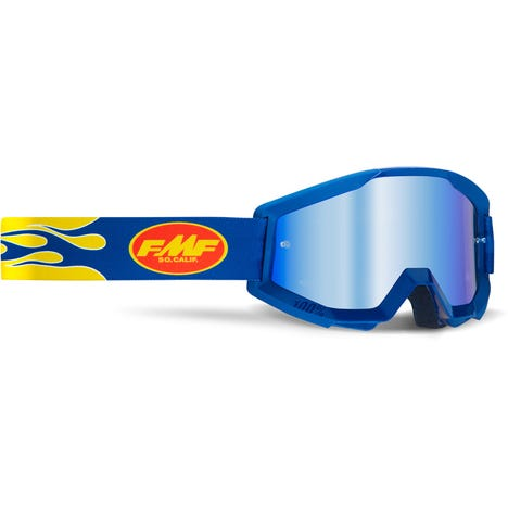 POWERCORE Goggle Flame Navy Mirror Blue Lens