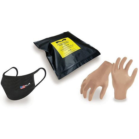 PPE Mask & Nitrile Glove Combo Kit