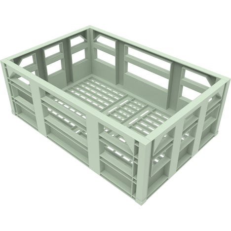 Bicycle Crate Front Mounted - Chigusa Green