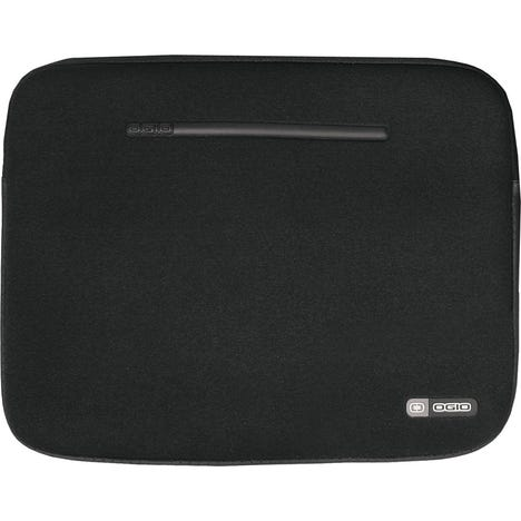 Neoprene Laptop Sleeve, 17inch, Black/Silver