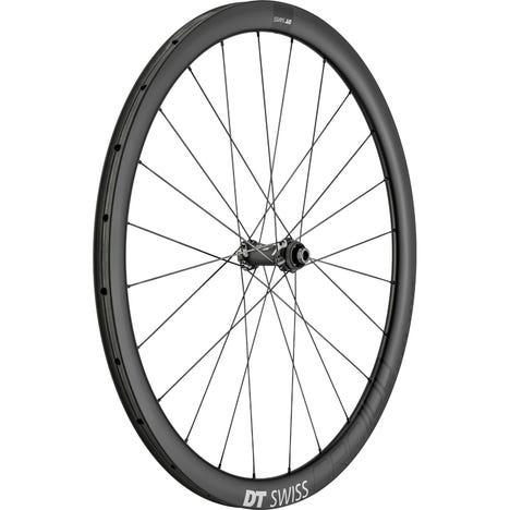 DT Swiss CRC 1100 SPLINE disc brake wheel, carbon tubular 38 x 26 mm, front