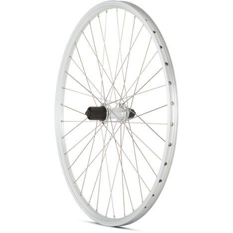 MTB Rear Quick Release Cassette Wheel silver 26 inch