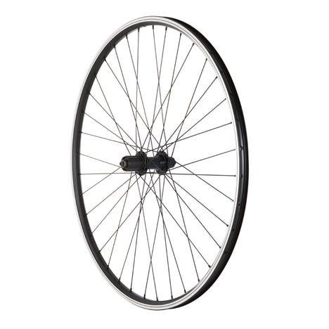 Hybrid Rear Quick Release Cassette Wheel black 700c