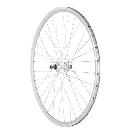 Road Rear Quick Release Screw On Wheel silver 700c