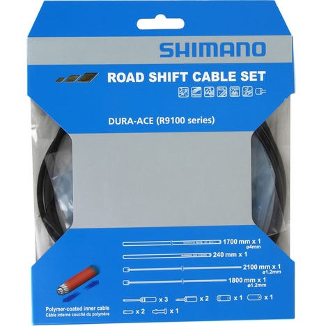 Dura-Ace RS900 Road gear cable set, Polymer coated inners