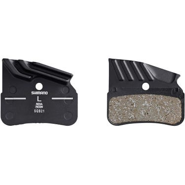 N03A disc pads and spring, alloy backed with cooling fins, resin