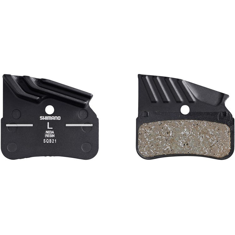 Shimano Spares N03A disc pads and spring, alloy backed with cooling fins, resin