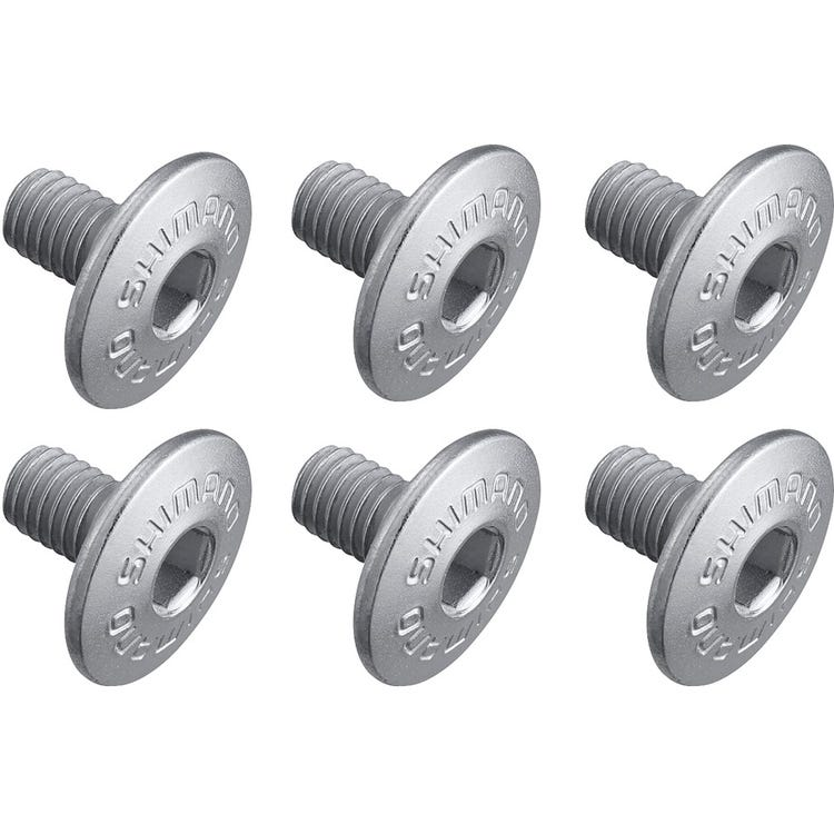 Shimano Spares Cleat fixing bolt, M5 x 8 mm, pack of 6