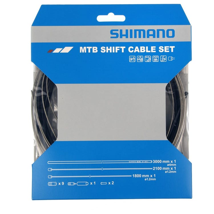 Shimano Spares MTB gear cable set with stainless steel inner wire, black