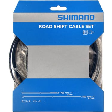 Road gear cable set with steel inner wire, black