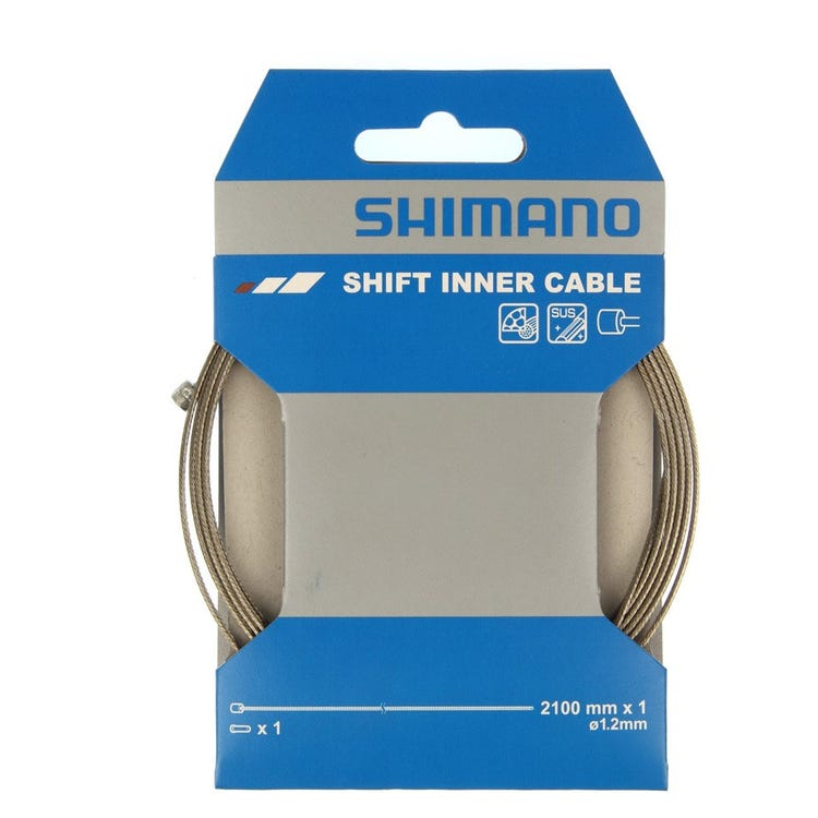 Shimano Spares Road / MTB stainless steel gear inner wire, 1.2 x 2100, single