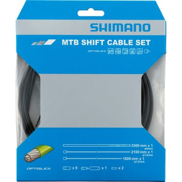 XT M8000 MTB gear cable set, OPTISLICK coated inners, black