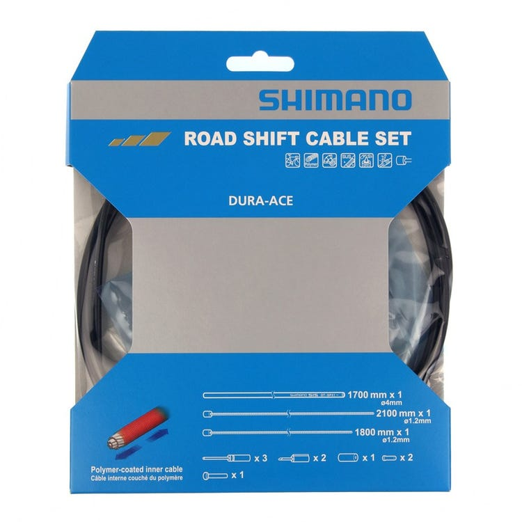 Shimano Spares Dura-Ace 9000 Road gear cable set, Polymer coated inners