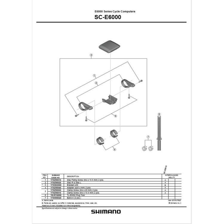 Shimano Spares SC-E6000 bracket unit