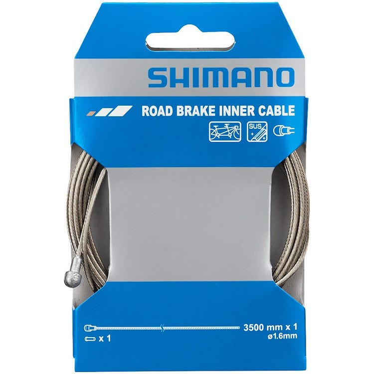 Shimano Spares Road tandem stainless steel inner brake wire,1.6 x 3500 mm, single