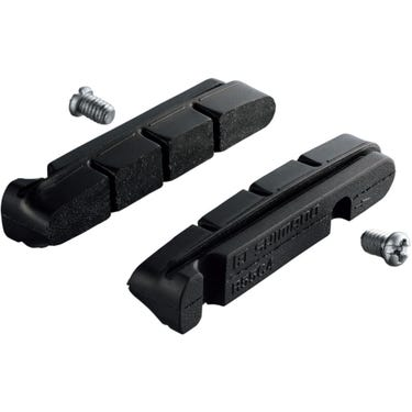 R55C4 brake shoe inserts and fixing bolts, for carbon rim, pair