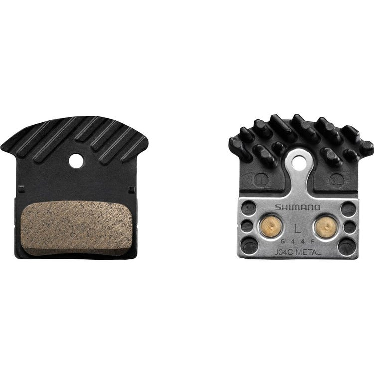Shimano Spares J04C metal pad and spring, with fin