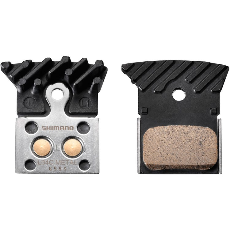 Shimano Spares L04C disc brake pads, alloy backed with cooling fins, metal sintered