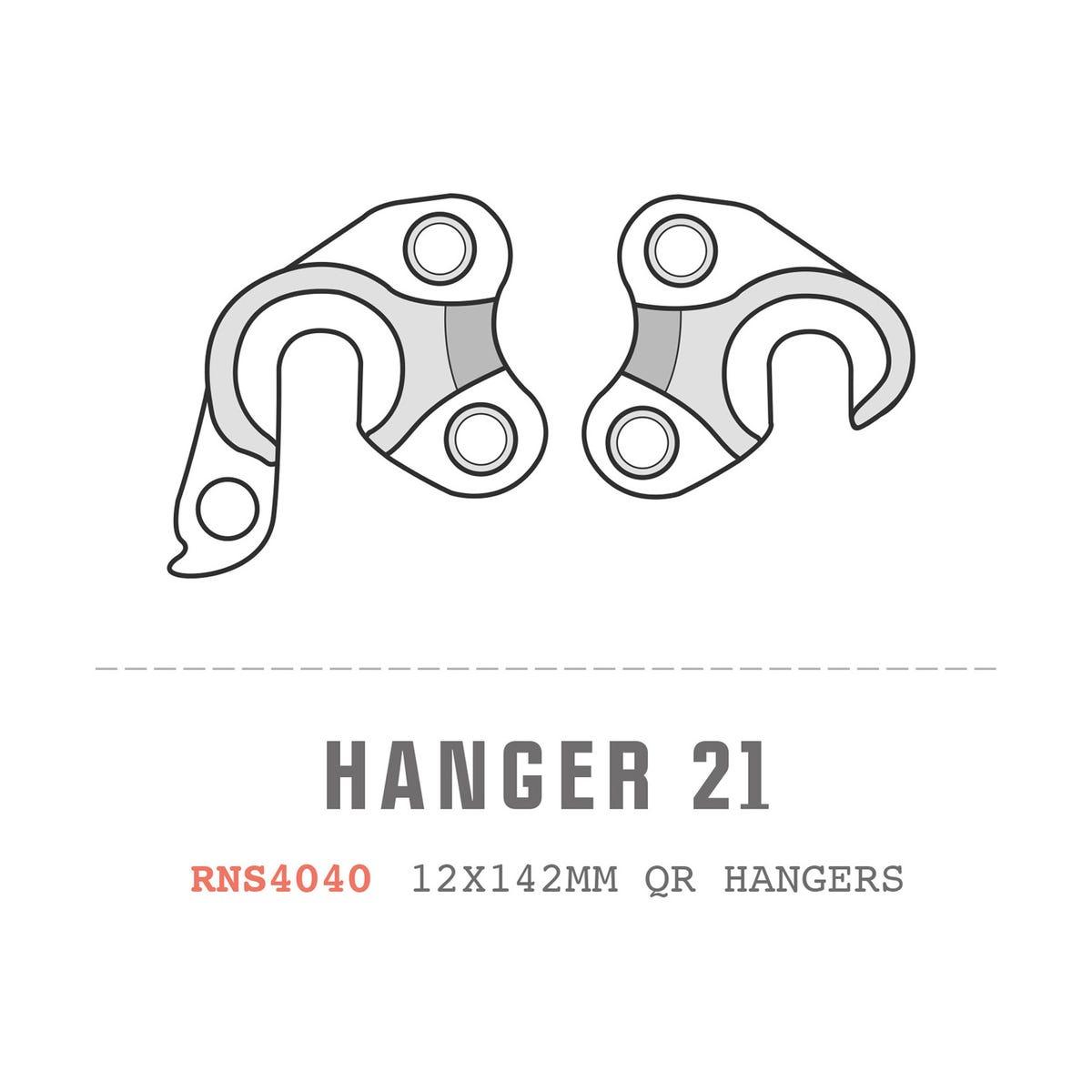Saracen Hanger 21 fits: All Ariel models (12x142mm hangers pair)
