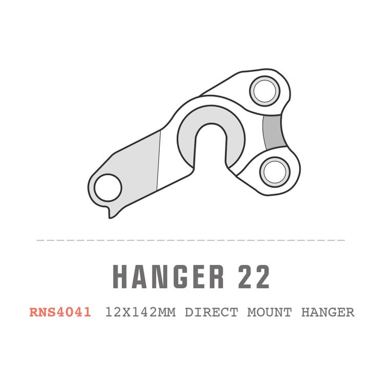 Saracen Hanger 22 fits: All Ariel models (12x142mm hanger Direct Mount)