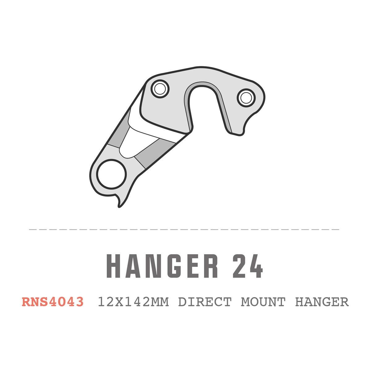 """Saracen Hanger 24 fits: All Ariel/Kili 27.5"""" Carbon '14 (12x142mm Direct Mount R/H ONLY)"""