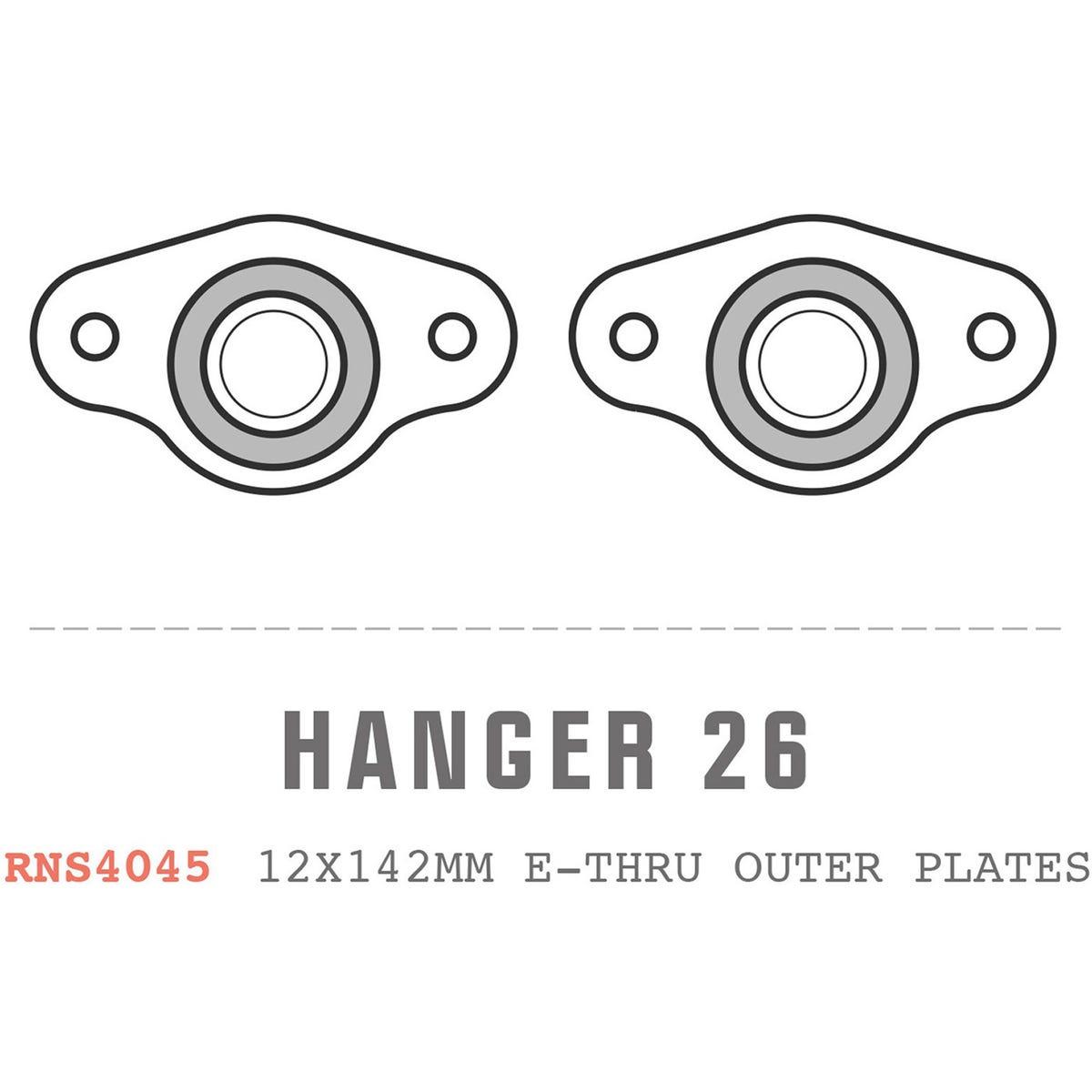 Saracen Hanger 26 fits: Carbon 12x142mm E-Thru outer plates