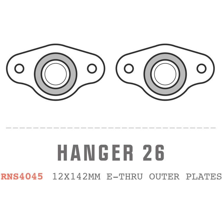 Saracen Hanger 26 fits: Carbon 12x142mm E-Thru outer plates