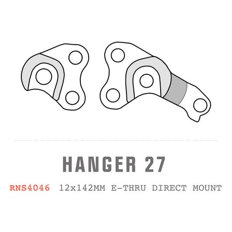 Saracen Hanger 27 fits: Chip-slot 12x142mm E-Thru Direct Mount (Pair)